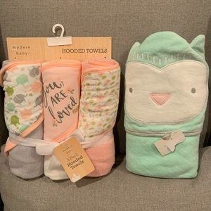 Baby hooded towels -set of 4
